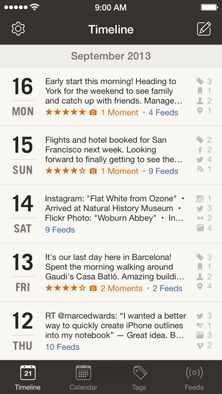 diary app that tracks daily online activities