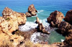 Image of cliff, arch - 99803069 Algarve, Geology, Summer Time, Portugal, Exotic, Paradise, Places To Visit, Coast, Water