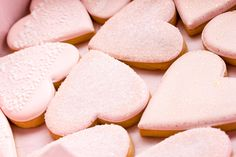 Custom made textured pink heart cookies from Philadelphia's Whipped Bakeshop! Heart Cookies, Royal Icing Cookies, Cookie Decorating, Treats, Donuts, Desserts, Zodiac, Pink, Food