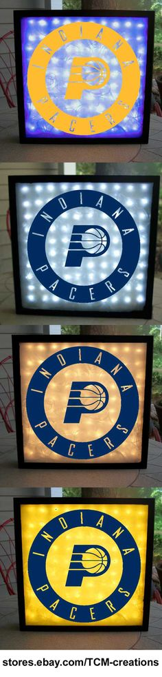Indiana Pacers Shadow Boxes with LED lighting. NBA, National Basketball Association.