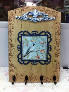 Painted & stenciled frame