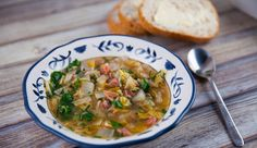 pintecrest cabbage, ham, and lima bean soup - Yahoo Search Results Image Search Results Chef Recipes, Gluten Free Recipes, Soup Recipes, Keto Recipes, Lima Bean Soup, Ham And Cabbage Soup, Ham Hock, Best Chef, Easy Meals