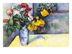 Still Life with Flowers In a Vase by Paul Cezanne