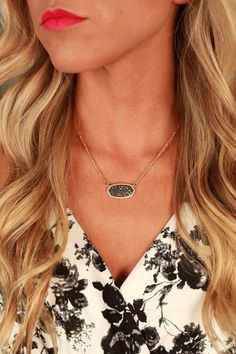 Party Favor Pave Necklace in Black