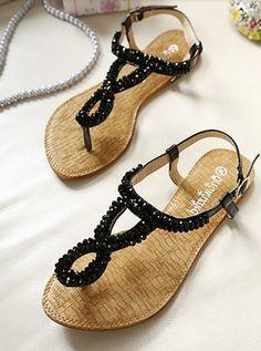 Bohemian Style Dazzling Toepost All Match Casual Sandals Cute Sandals, Cute Shoes, Shoes Sandals, Me Too Shoes, Fashion Sandals, Fashion Moda, Sock Shoes, Shoe Boots, Shoe Closet
