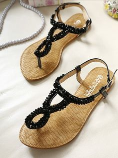 Bohemian Style Dazzling Toepost All Match Casual Sandals