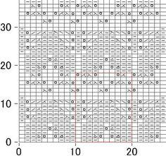 Японский ажурный узор спицами - схема 180