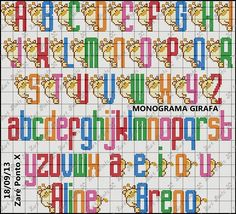 Cross Stitch Alphabet Patterns, Cross Stitch Letters, Bead Loom Patterns, Stitch Patterns, Cross Stitching, Cross Stitch Embroidery, Hand Embroidery, Embroidery Alphabet, Abc Alphabet