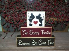 Primitive Personalized Wood Block Sign Minnie & by BusyMamasPlace, $21.99