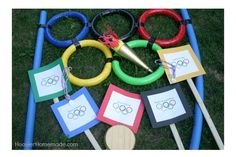 Give your own gold medal athletes a chance to shine with these backyard Olympic games