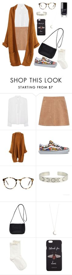 """school isn't much boring"" by marielaznickova on Polyvore featuring Diane Von Furstenberg, See by Chloé, Vans, Love, Accessorize, Hue and Gucci"