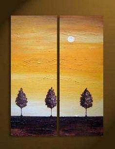 2 Piece Canvas Art Modern Art 100% Hand Painted Oil Painting on Canvas Wall Art Deco Home Decoration (Unstretch No Frame) by galleryworldwide, http://www.amazon.com/dp/B009YRM9CC/ref=cm_sw_r_pi_dp_rHaUrb0ACYFMH