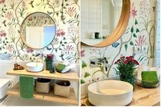 Sweet Home, Mirror, Furniture, Bathrooms, Home Decor, Ideas, Dark Bathrooms, Round Bathroom Mirror, Small Bathrooms