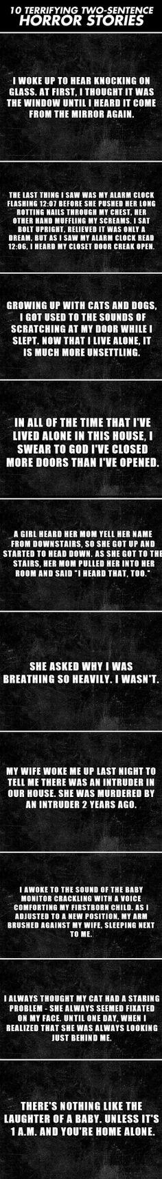 Terrifying two sentence horror stories…