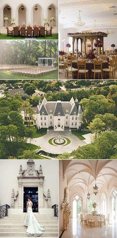 Inspirational Wedding Ideas #220: Chateau Cocomar-Houston TX - http://www.diyweddingsmag.com/inspirational-wedding-ideas-220-chateau-cocomar-houston-tx/