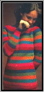 Rainbow Pullover - archived crochet pattern from Groovy Crochet