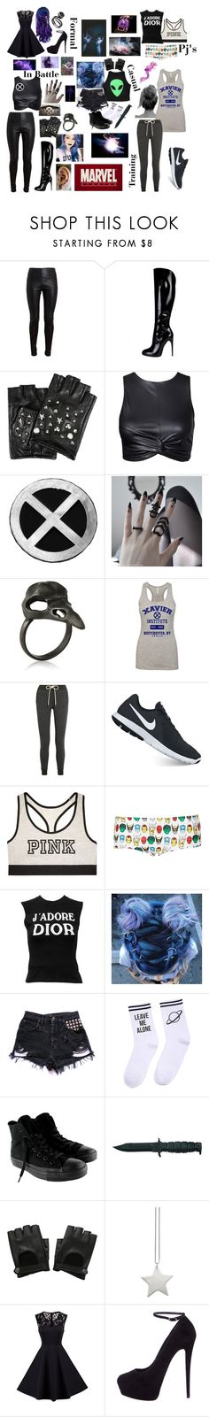 """Me in X-Men"" by xxstar-childxx ❤ liked on Polyvore featuring Balenciaga, Gucci, Karl Lagerfeld, Splendid, NIKE, Victoria's Secret, Topshop, Christian Dior, Yeah Bunny and Converse"