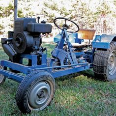 When he came across plans for a homemade garden tractor, his obsession began. The plans were more than 45 years old, so Keith searched for new ones.