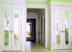 """Closets built out from """"door wall"""". Versus side wall!"""