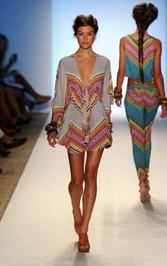 She had my heart at her ethnic print sensibility..... sigh....  Mara Hoffman Turns to Egypt for Resort 2012 {via fashionologie } fashion