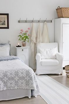 sweet, white bedroom