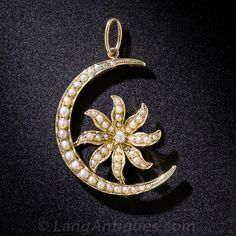Antique Seed Pearl and Diamond Pendant - 90-1-6124 - Lang Antiques