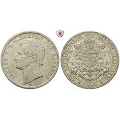 Sachsen, Königreich Sachsen, Johann, Vereinstaler 1867, ss/ss-vz: Johann 1854-1873. Vereinstaler 1867 B. AKS 137; sehr schön / sehr… #coins