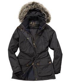 Barbour Womens Redesdale Waterproof Parka Jacket Black