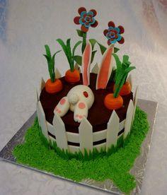 Easter Bunny Cake Vanilla Cake with Hazelnut chocolate Ganache. Easter Bunny Cake, Chocolate Hazelnut, Let Them Eat Cake, Vanilla Cake, Carrots, Cake Decorating, Rabbit, Cakes, Desserts