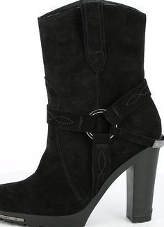 High Suede Western Boot