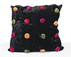 """Memphis Era • Crushed Velvet • B I G •  24"""" Accent Pillow • In MINT Condition • Guaranteed To Bring Elegance, Fun & Whimsy To Your Decor!"""