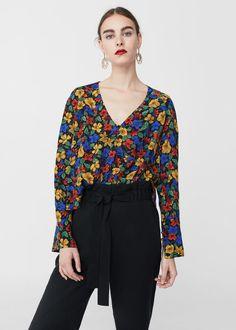 Blusa stampa fiori - Camicie da Donna | MANGO Italia