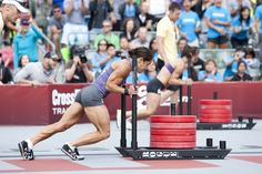 Annie Sakamoto at the Crossfit games. 35 and tiny but mighty, she is such an inspiration!