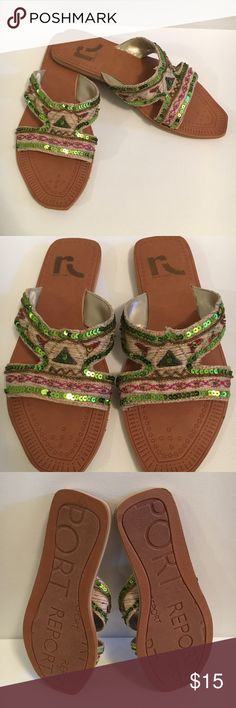 Report beaded Sandals Report Sandals with beading detailing. Report Shoes Sandals