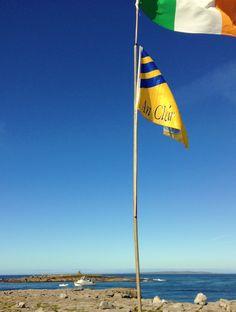Still flyin' high under The Banner here at Doolin Pier. Clare Ireland, County Clare, Wind Turbine, Irish, Banner, Banner Stands, Irish People, Banners, Irish Language