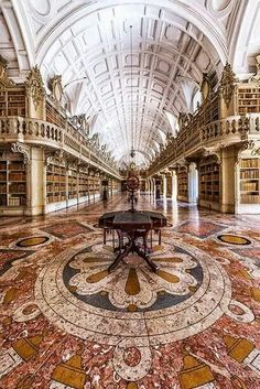 I just want a small subtle library with staircases and gilt bannisters and books.lots of books Mafra National Palace, Portugal (by Nuno Trindade) (All things Europe) Beautiful Architecture, Beautiful Buildings, Beautiful Places, Classical Architecture, Library Architecture, Historical Architecture, Beautiful Pictures, Beautiful Library, Dream Library