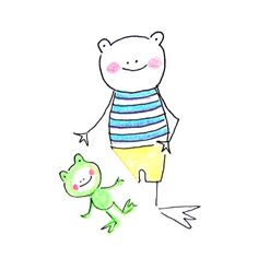 Peter Silly the Artist Frog   Linzer Lane Blog by Lady Lucas