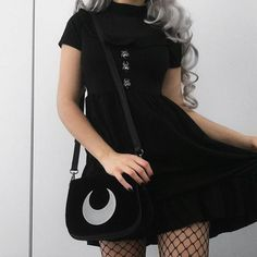 Full Lace Front Wigs, Black, Dresses, Gothic, Witch, Moon, Posts, Instagram, Goth Style