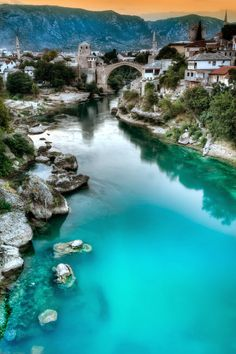 Mostar, Bosnia. Places To Travel, Places To See, Europa Tour, Mostar Bosnia, Beautiful Landscapes, Beautiful Scenery, World Cities, Croatia Travel, Beautiful Places In The World