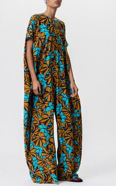 Floral Printed Oversized Jumpsuit by TOME for Preorder on Moda Operandi
