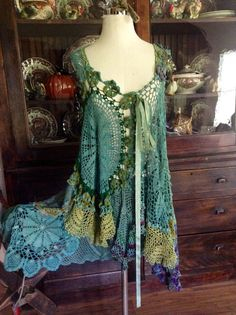 Luv Lucy crochet dress tunic Lucy's Ocean by TheVintageRaven, $195.00