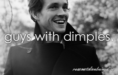 Guys with dimples