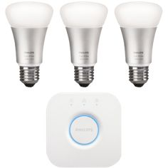 HUE white and colorE26 starter kit- High Quality White and Coloured Light with Scheduling ability