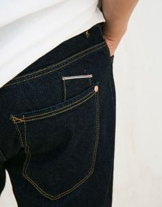 Slim fit selvedge jeans - Jeans - Bershka Indonesia