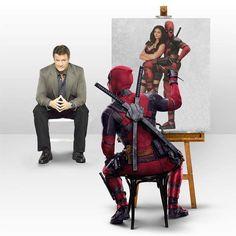 Self Portrait Deadpool 2 Movie, Deadpool Art, Deadpool Funny, Marvel Funny, Marvel Memes, Funny Comics, Marvel Universe, Marvel Dc Comics, Anime Comics