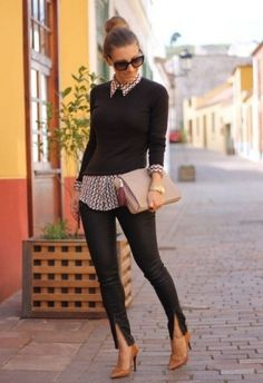 Mujeres cortas y la moda adecuada para un mejor look - estilo casual - estilo urbano - estilo clasico - estilo natural - estilo boho - moda estilo - estilo femenino Fashion Looks, Work Fashion, Style Fashion, Office Fashion, Dress Fashion, Fashion Clothes, Fashion Design, Fashion Outfits, Fall Winter Outfits