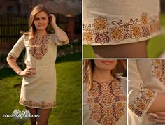 вышиванка 1 Floral Embroidery Patterns, Embroidery Fashion, Embroidery Dress, Embroidered Clothes, Embroidered Blouse, Casual Summer Outfits, Summer Dresses, Mexican Fashion, Cross Stitch