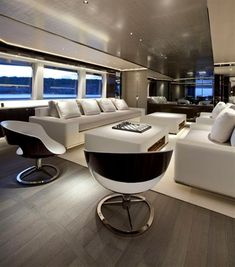 Satori yacht, interior design by Remi tessier