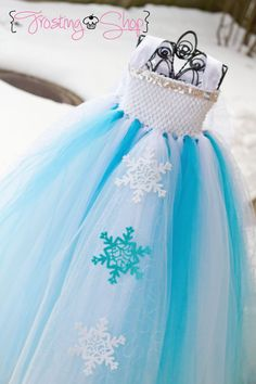 Sophie wants to be Elsa for Halloween. Princess Elsa Inspired Tutu dress Frozen by FrostingShop on Etsy