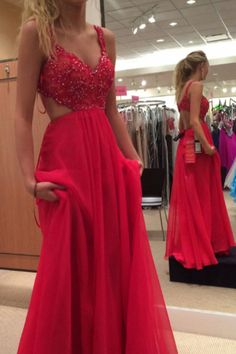 Fashion Prom Dresses Long,Gowns Prom,Cheap Prom Dresses on Line, Evening Dresses for Teens,Party Dresses for Woman,Red Lace Spaghetti Strap Chiffon Backless Prom Dresses,Red Lace Formal Gowns, M26